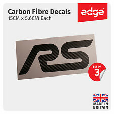 3 X Ford RS Decals CARBON FIBRE VINYL Premium Stickers Focus Fiesta Van