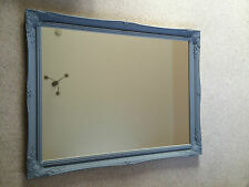 "SUPERB EXTRA LARGE FRENCH GREY WALL MIRROR -Frame Size 30"" x 42"" (75cm x 105cm)"