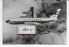 LUFTHANSA GERMAN AIRLINES BOEING 720B JET AIRLINE ISSUE B/W 1961 POSTCARD