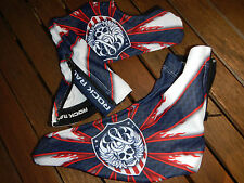 Original Rock Racing USA Champion Shoe Cover White Blue Red Größe S/M Top New