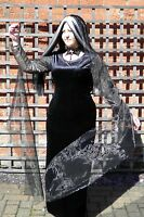 Morticia Addams Family Style Fancy Dress Costume Halloween Plus Size 8 - 30