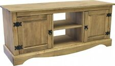 Antique TV DVD Media Unit Entertainment Stand Living Room Wooden Pine Furniture
