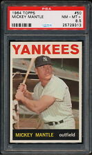 MICKEY MANTLE 1964 TOPPS YANKEES CARD #50 PSA 8.5  *CENTERED*