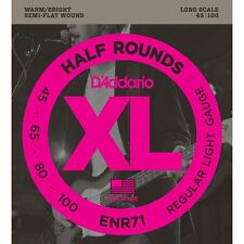 D'Addario ENR71 Half Wound (Semi Flatwound) Bass Guitar Strings - 45-100 - NEW!