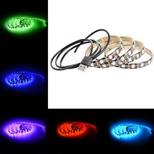 US 5050 60SMD/M RGB LED TV Strip Light Bar Back Lighting Kit+USB Remote Control
