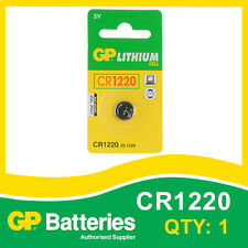 GP Lithium Button Battery CR1220 (DL1220) card of 1 [WATCH & CALCULATOR + OTHER]