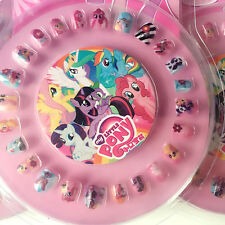 24pcs My Little Pony Fake Nail With Nail file Kids Girls Hot  Gift False Nails