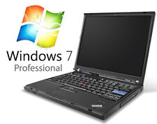Office Laptop Notebook Lenovo ThinkPad T61 C2D 1,8GHz 4GB 160GB DVDRW Win7Pro32