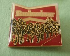Team of Budweiser Clydesdale Horses Advertising Lapel Pin