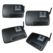 Intercom 4 Channel FM Digital Wireless Office Home Store Security Garden 4 Units