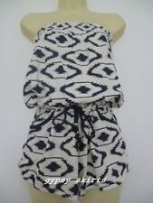 Primark Navy Aztec Print PlaySuit Aztec Cover Up Swimming Beach Summer Festival