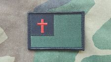 Christian Flag OD Green  Subdued Velcro Morale Patch Infidel