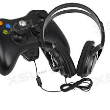 OverHead Headphones Headset with Mic for Live Chat for Microsoft xBox 360  Black