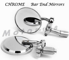 "3""CHROME 7/8""HANDLE BAR END MIRRORS For MOTORCYCLE CAFE RACER BOBBER CLUBMAN"