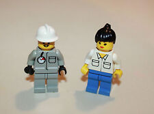 Lego Vintage Collectible 1994 Fireman and Female Minifigs 6571 Flame Fighter
