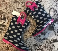 NEW WITH TAGS TODDLER GIRL BOW  RAIN BOOTS- SIZE 10