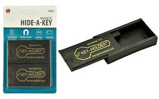 2 pc Black Magnetic Hide-A-Key with Rare Earth Magnet Blister Pack Key Holder