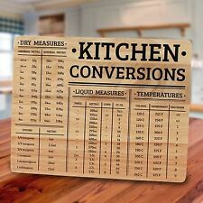 Kitchen Conversions Chopping Board with Measurements Worktop Saver