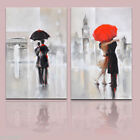 OIL PAINTING MODERN ABSTRACT WALL DECOR ART CANVAS,Landscape 2PC(no frame)