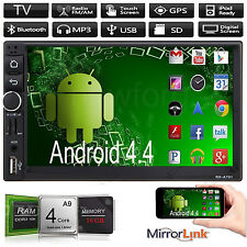 """Android 4.4 Double 2Din HD Car Stereo GPS Navi MP5 MP3 Player 7"""" Bluetooth Radio"""
