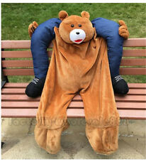 Halloween Carry Me Ride On Teddy bear Mascot  Fancy Costume Dress Stag Adult