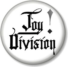 Joy Division 25mm Pin Button Badge An Ideal for Living Text New Wave Band White
