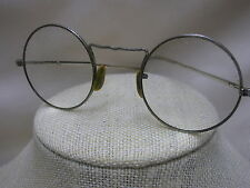 Vintage Eyeglasses AO American Optical Cortland Round Frame Ornate Design Wire