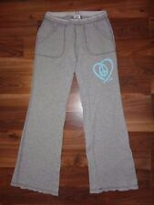 Victoria's Secret PINK XS Thermal PJ Pajama Pants Gray Heart VGUC Sleep Lounge