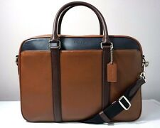Coach Perry Colorblock Smooth Leather Slim Briefcase F56018