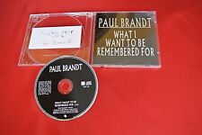Paul Brandt What I Want to be Remembered For 1 Trk Import Canada Promo CD