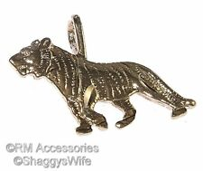 Tiger Charm Pendant EP 24k Gold Plated Jewelry Lifetime Guarantee!