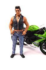 Chris figura DE MOTORISTA AMERICAN DIORAMA ACCESORIO de escala 1:12 23995 Nueva Moto No Incl