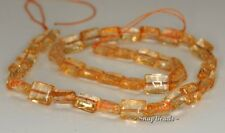 10X8MM  CITRINE QUARTZ GEMSTONE RECTANGLE LOOSE BEADS 7.5""