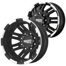 Front and Rear Set-Moto Metal MO963 Dually 16x6 8x170 Black/Machined Wheels Rims