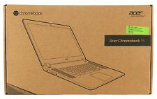 "Acer 15.6"" Intel Dual Core 2GB RAM 16GB HD Chrome OS Webcam Chromebook HP Gray"