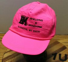 BH WELDING AND MACHINE GLENDIVE MONTANA VINTAGE HAT HOT PINK SNAPBACK VGC