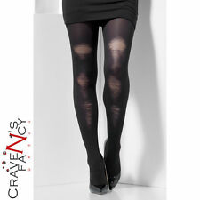 Distressed Black Tights Zombie Witch Halloween Fancy Dress Costume Accessory