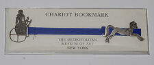 CHARIOT BOOKMARK METROPOLITAN MUSEUM OF ART NYC PEWTER & RIBBON  BOOKMARK MMA