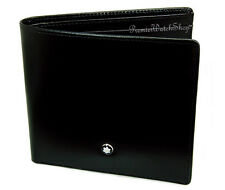 NEW Mont Blanc Meisterstuck Collection 7163 Men's Black Leather 8cc Wallet 07163