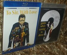 TWO NEW SIDNEY POITIER BLU-RAYS, TO SIR WITH LOVE & GUESS WHO'S COMING TO DINNER