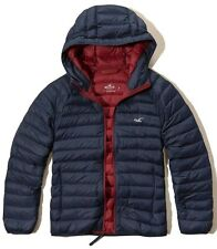 *NEW* NWT Hollister Mens Guys Navy Lightweight Down Puffer Jacket ~ L