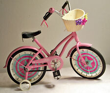 """Our Generation 'OG Girl' 18"""" Pink Metal Bicycle Fits American Girl Dolls"""