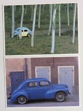 x 2 Novelty Postcards - Renault 4cv
