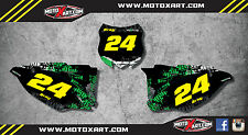 Kawasaki KXF 250 2013 - 2016 Graffiti STYLE  custom number plate kit / decals