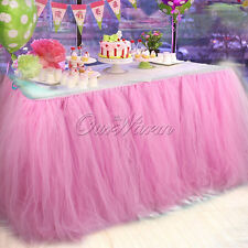 Adjustable knots Birthday TUTU Table Skirt Wedding Party Baby Shower Decoration