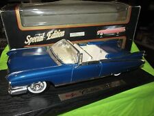 59 cadillac convertible 1959 maisto 1/18 coupe deville blue paint not perfect