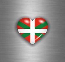 Etiqueta Calcomanías Auto Moto Motocicleta JDM bomba bandera Hearth Euskadi Vasco Amor