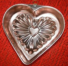 VINTAGE HEART W/HANGING LOOP * COPPER COLORED * ANODIZED ALUMINUM * JELLO MOLD
