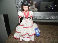 "Vintage Marin Spanish Collector Doll Tag 11"" with Stand. Has tag. Ref 7023."
