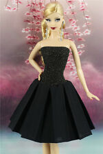 Handmade High-quality Black Dress Vintage Style Clothes/Outfit For Barbie Doll